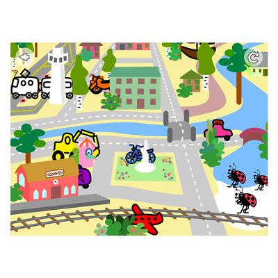 Appen Färger och fordon, stad