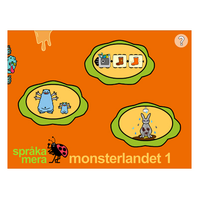 Appen Monsterlandet 1, startsida