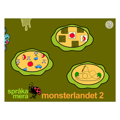 Appen Monsterlandet 2, startsidan