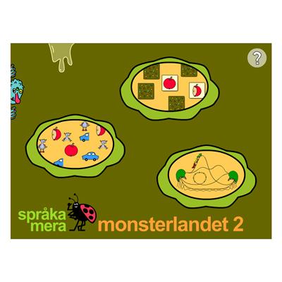 Appen Monsterlandet 2, startsidan