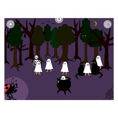Appen Spökbus, skogen