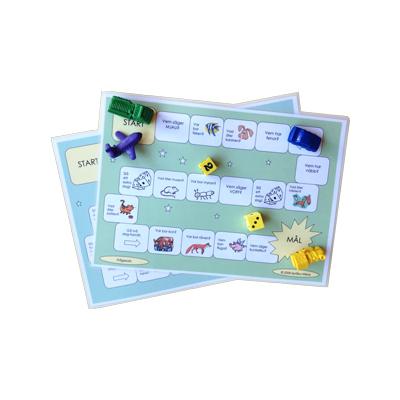 Spelplan: Frågeord och djur